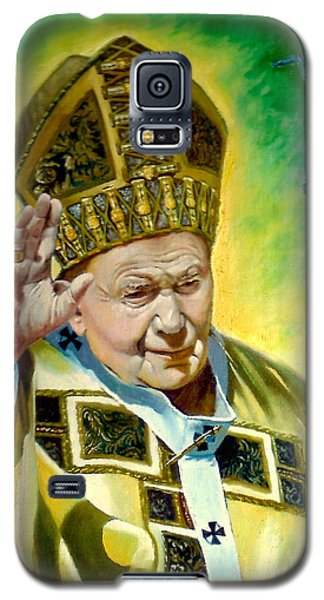 Galaxy S5 Case featuring the painting Pilgrim by Henryk Gorecki