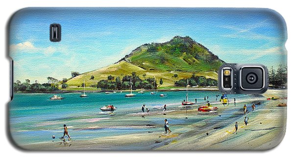 Galaxy S5 Case featuring the painting Pilot Bay Mt M 050110 by Sylvia Kula