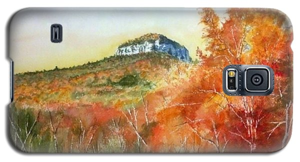 Galaxy S5 Case featuring the painting Pilot Mountain 8x10 #2 by Richard Benson
