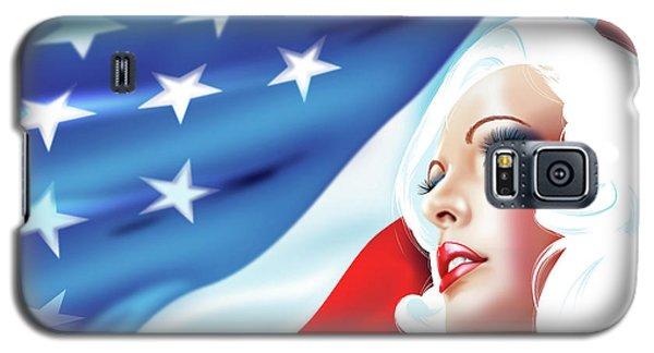 Pin-up Girl Usa Galaxy S5 Case by Brian Gibbs