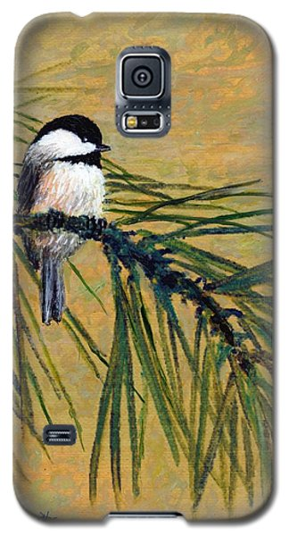 Pine Branch Chickadee Bird 1 Galaxy S5 Case