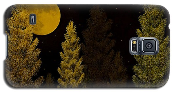 Pine Forest Moon Galaxy S5 Case