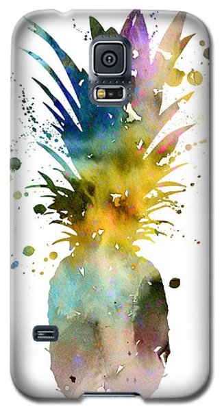 Pineapple 2 Galaxy S5 Case by Watercolor Girl