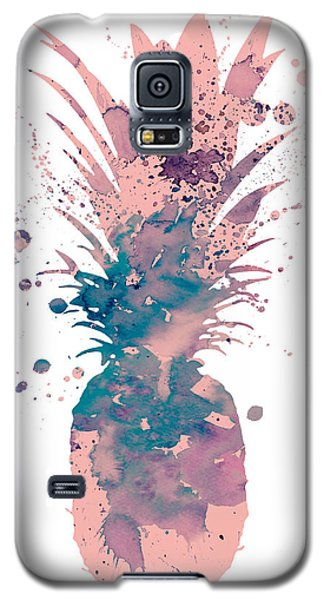 Pineapple 3 Galaxy S5 Case by Watercolor Girl