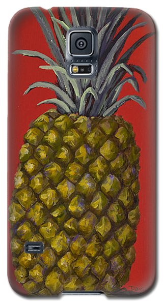 Pineapple On Red Galaxy S5 Case by Darice Machel McGuire