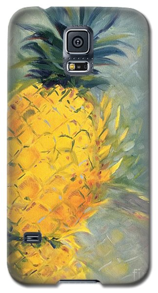 Pineapple On Soft Green Galaxy S5 Case