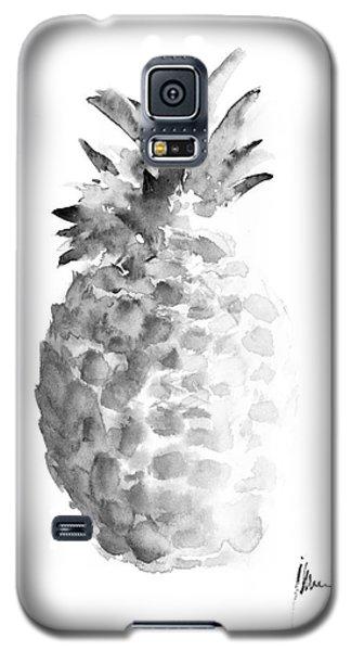 Pineapple Painting Watercolor Art Print Galaxy S5 Case by Joanna Szmerdt