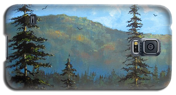 Galaxy S5 Case featuring the painting Pines 2 by Carol Hart