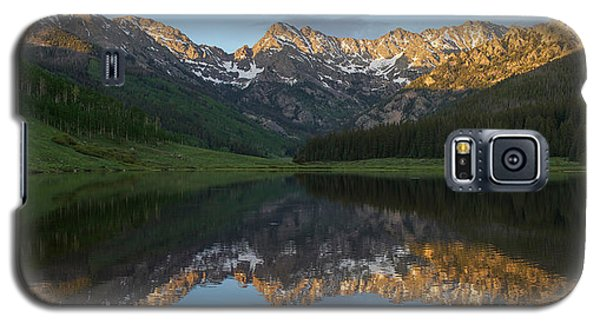Galaxy S5 Case featuring the photograph Piney Lake Sunset Panorama by Aaron Spong
