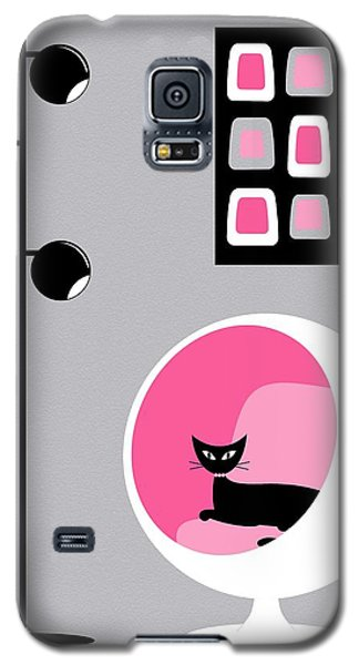 Pink 1 On Gray Galaxy S5 Case