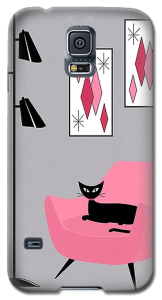 Pink 2 On Gray Galaxy S5 Case