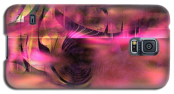 Galaxy S5 Case featuring the painting Pink Abstract Nature by Yul Olaivar