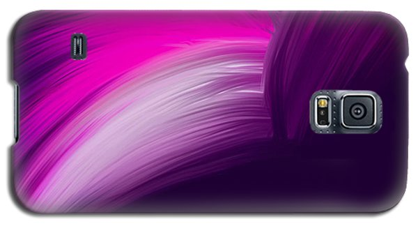 Pink And Purple Curves Galaxy S5 Case