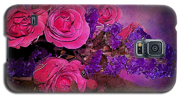 Pink And Purple Floral Bouquet Galaxy S5 Case by Phyllis Denton