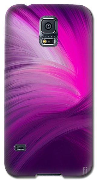 Pink And Purple Swirls Galaxy S5 Case