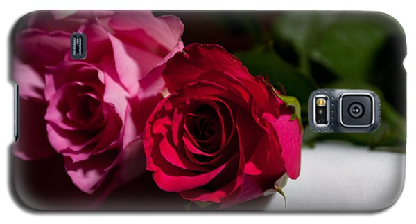 Galaxy S5 Case featuring the photograph Pink And Red Rose by Matt Malloy