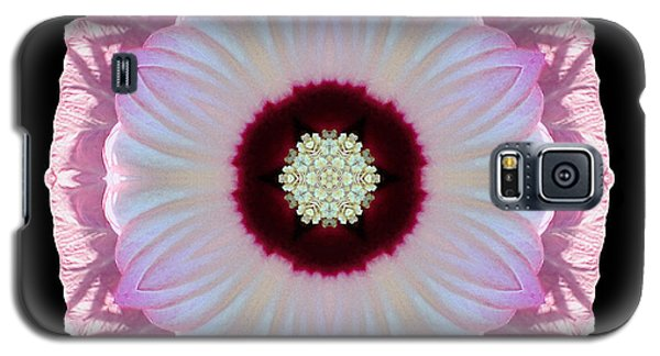 Pink And White Hibiscus Moscheutos Vii Flower Mandala Galaxy S5 Case