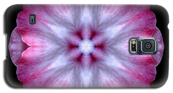 Pink And White Impatiens Flower Mandala Galaxy S5 Case