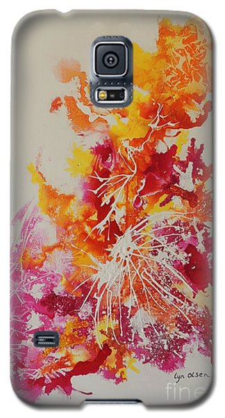 Pink And Yellow Coral Galaxy S5 Case by Lyn Olsen