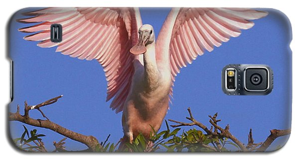 Galaxy S5 Case featuring the photograph Pink Angel Wings by Myrna Bradshaw