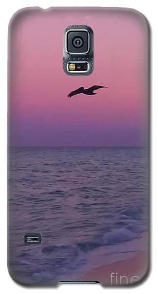 Pink Beach Sunset Galaxy S5 Case
