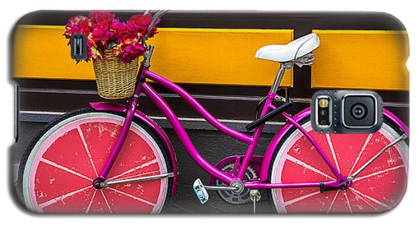 Bicycle Galaxy S5 Case - Pink Bike by Garry Gay