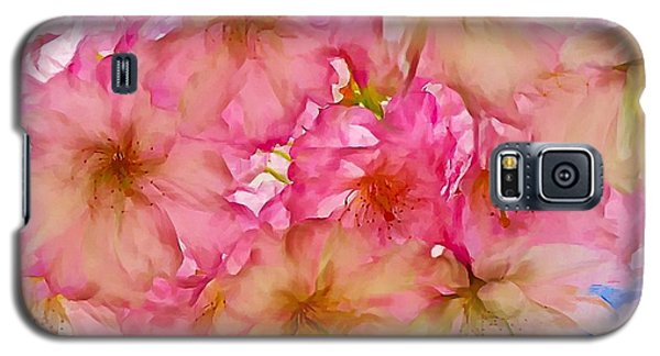 Galaxy S5 Case featuring the digital art Pink Blossom by Lilia D