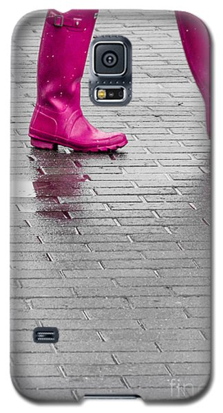 Pink Boots 2 Galaxy S5 Case by Susan Cole Kelly Impressions