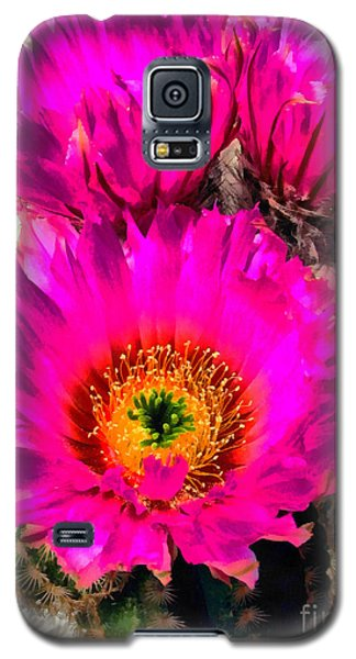 Pink Cactus Flower Galaxy S5 Case