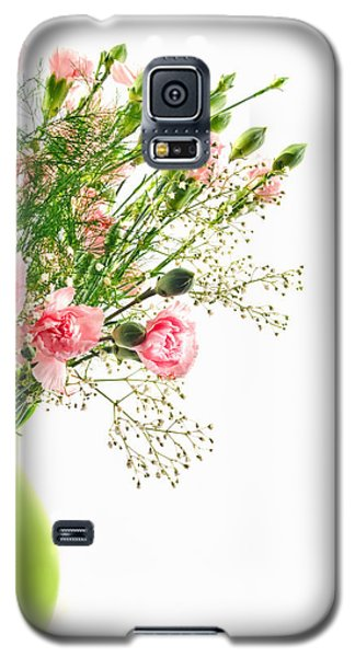 Pink Carnation Flowers Galaxy S5 Case by Vizual Studio