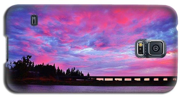 Pink Cloud Invasion Sunset Galaxy S5 Case