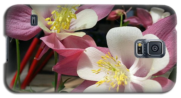 Galaxy S5 Case featuring the photograph Pink Columbine by Caryl J Bohn