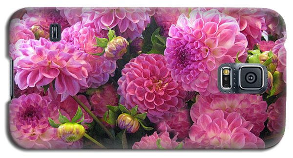 Galaxy S5 Case featuring the photograph Pink Dahlia Bouquet by Geraldine Alexander