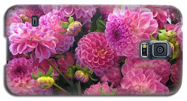 Pink Dahlia Bouquet Galaxy S5 Case