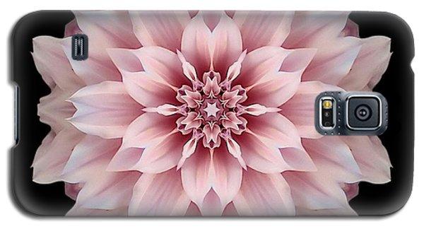Pink Dahlia Flower Mandala Galaxy S5 Case by David J Bookbinder