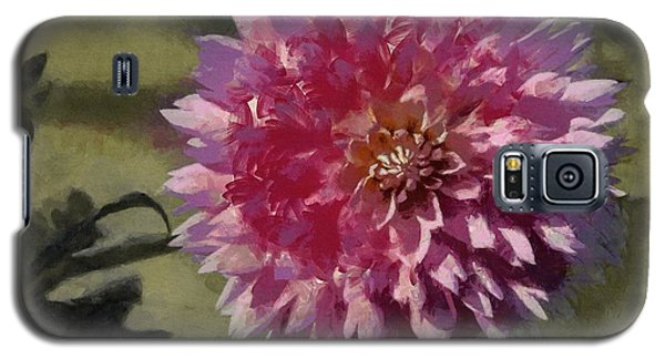 Galaxy S5 Case featuring the painting Pink Dahlia by Jeff Kolker