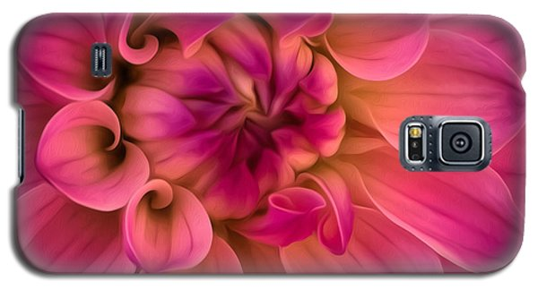 Pink Dahlia Galaxy S5 Case by Linda Villers