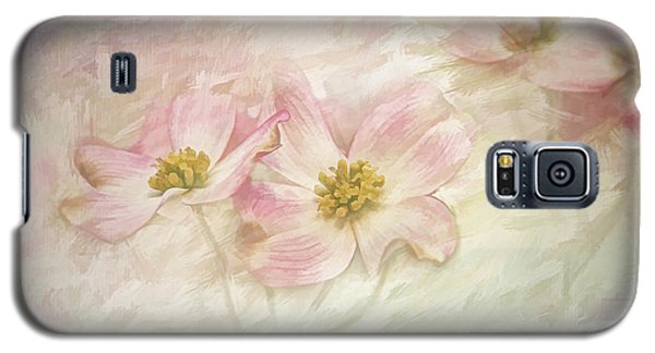 Galaxy S5 Case featuring the painting Pink Dogwood by Linda Blair