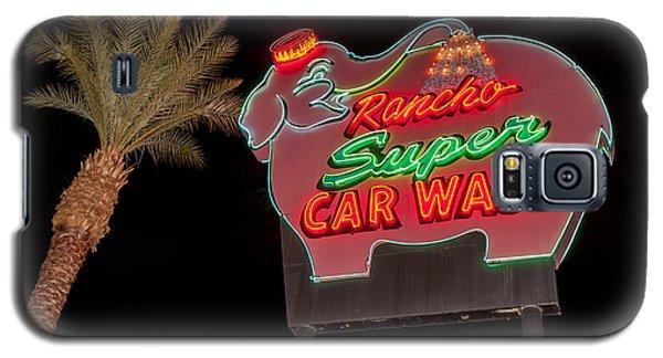 Pink Elephant Car Wash 36 X 24 Galaxy S5 Case