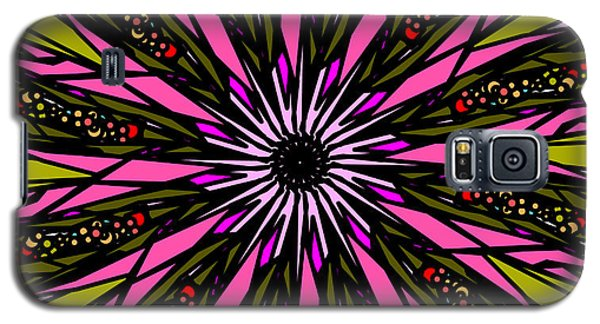 Galaxy S5 Case featuring the digital art Pink Explosion by Elizabeth McTaggart