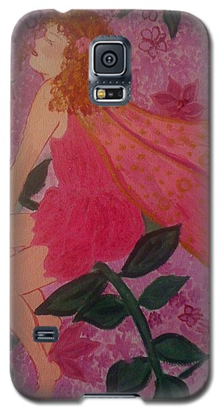 Galaxy S5 Case featuring the painting Pink Fairy by Judi Goodwin