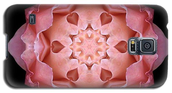 Pink Fall Rose Flower Mandala Galaxy S5 Case
