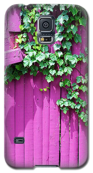 Pink Fence And Foliage Galaxy S5 Case by Mary Bedy