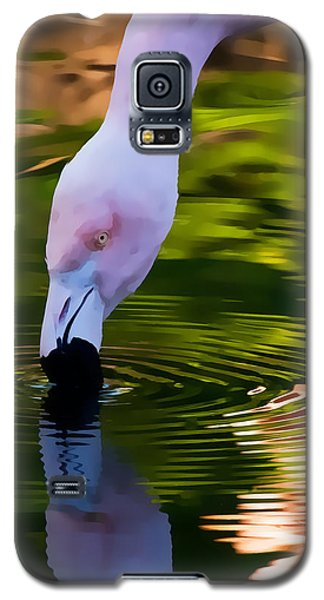 Pink Flamingo Reflection Galaxy S5 Case