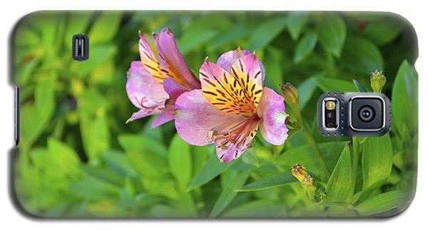 Galaxy S5 Case featuring the photograph Pink Flower by Alex King
