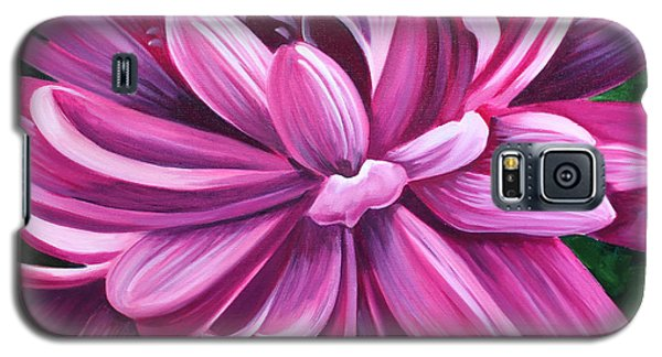 Pink Flower Fluff Galaxy S5 Case