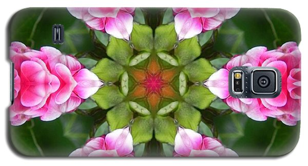 Pink Flower Star Mandala Galaxy S5 Case