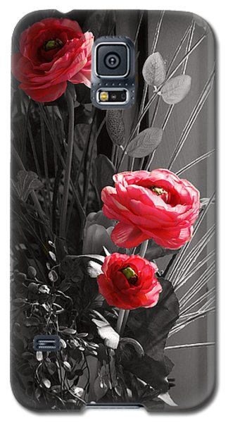Galaxy S5 Case featuring the digital art Pink Flowers by Kara  Stewart