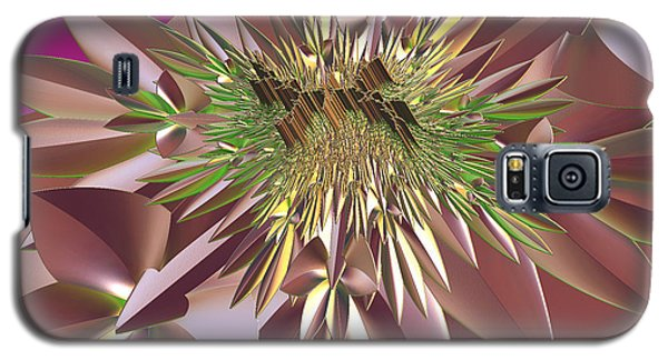 Galaxy S5 Case featuring the digital art Pink Flowers by Melissa Messick
