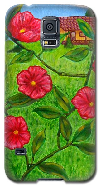 Pink Flowers Galaxy S5 Case by Sheri Keith